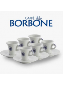 set of 6 Borbone coffee cups