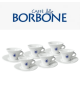 Set of 6 Bourbon cappuccino...